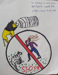 affiche Hénoc protection des animaux