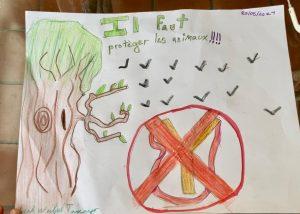 affiche Leah protection des animaux